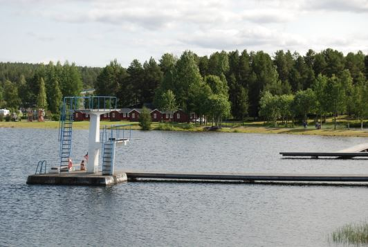 Activities at Storuman Camping Site and Badsjön lake