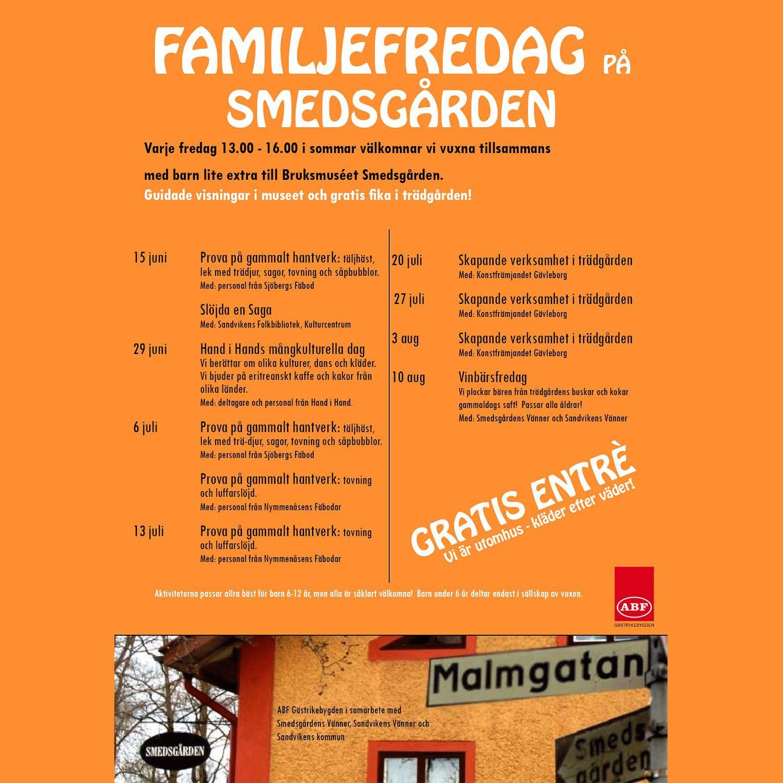 FamiljeFredag på Smedsgården