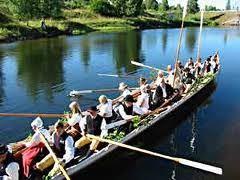 Kyrkbåtsrodd från Stumsnäs och Vikarbyns båthamn