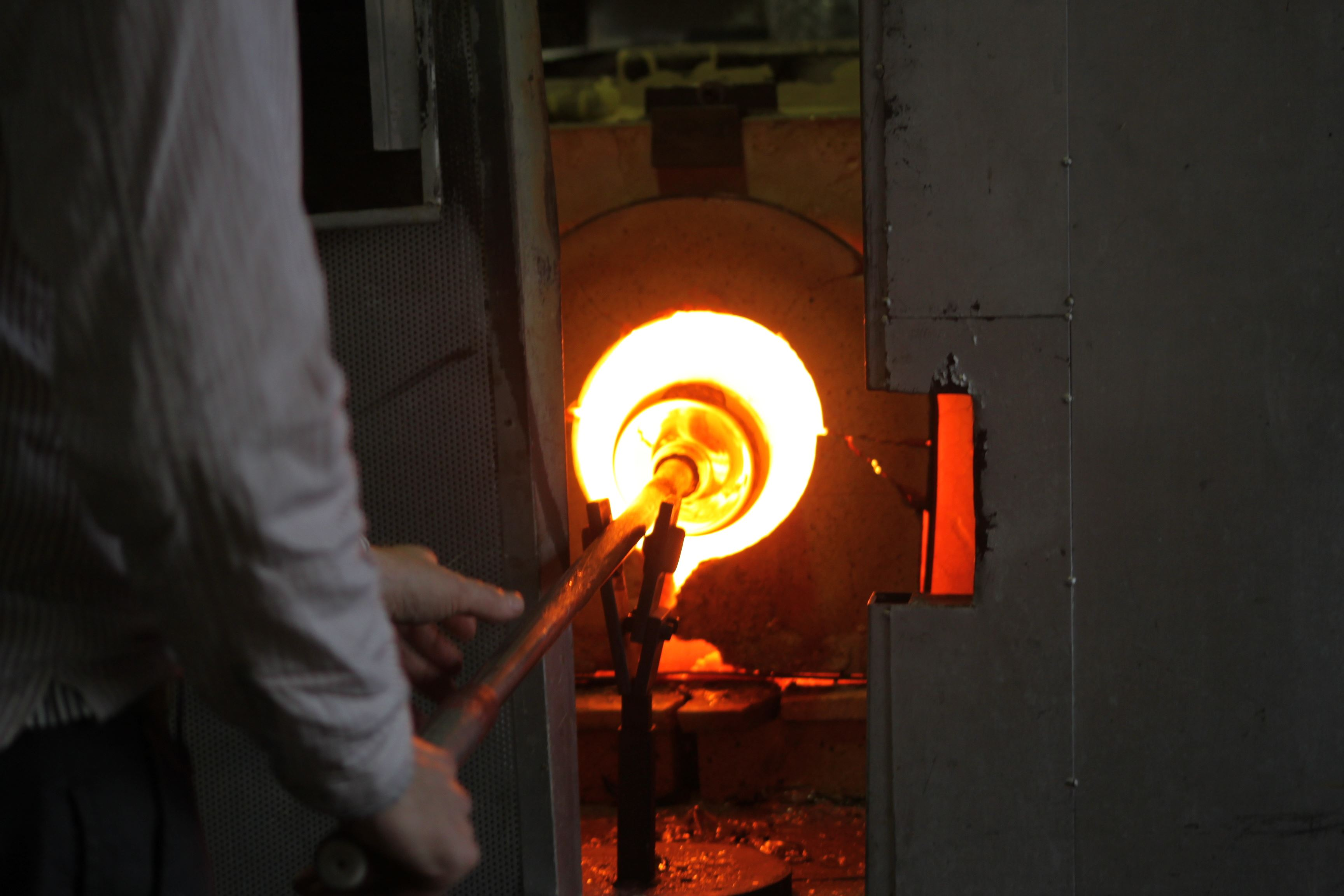 Try blowing your own bowl at Målerås Glassworks