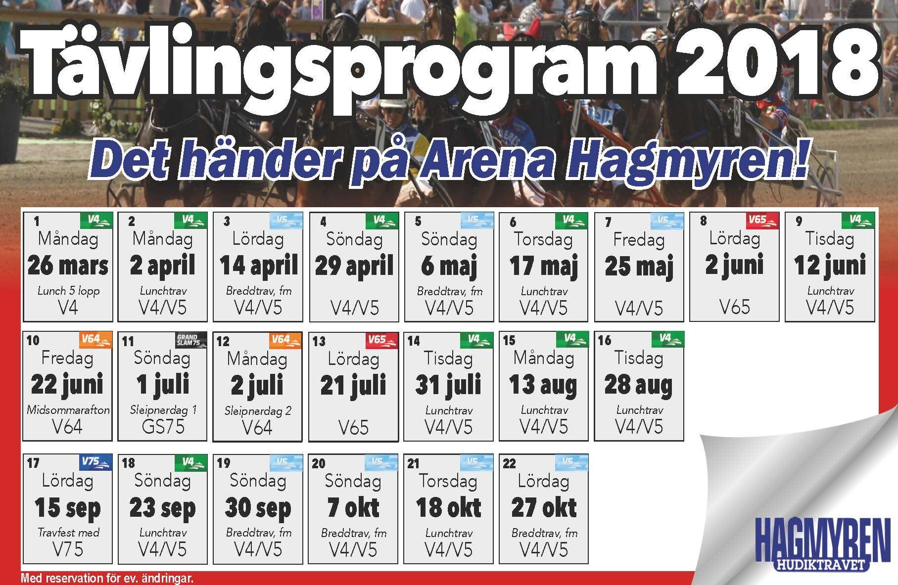 © Arena Hagmyren, Våra tävlingsdagar