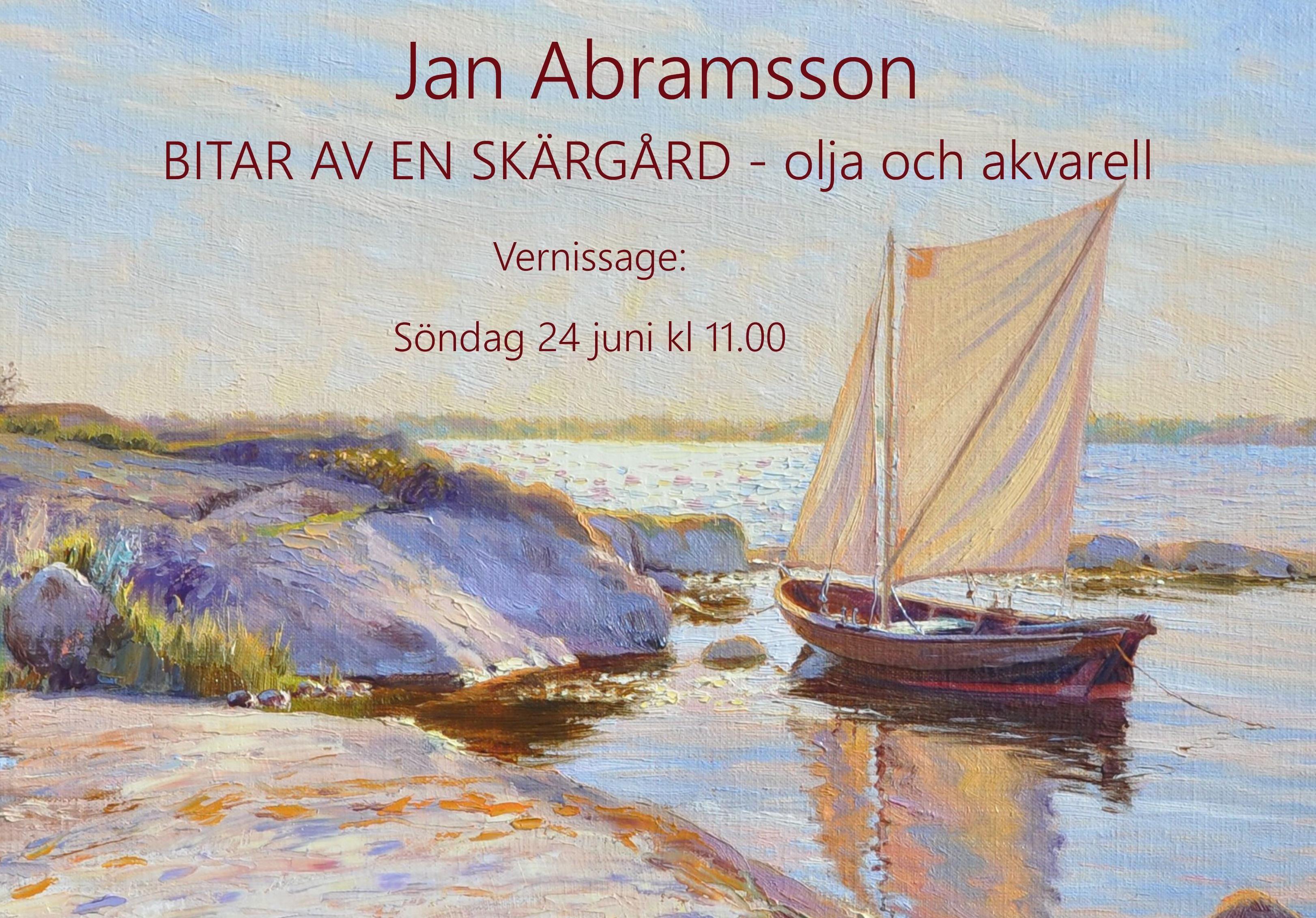 Utställning - Jan Abramsson, Bitar av en skärgård