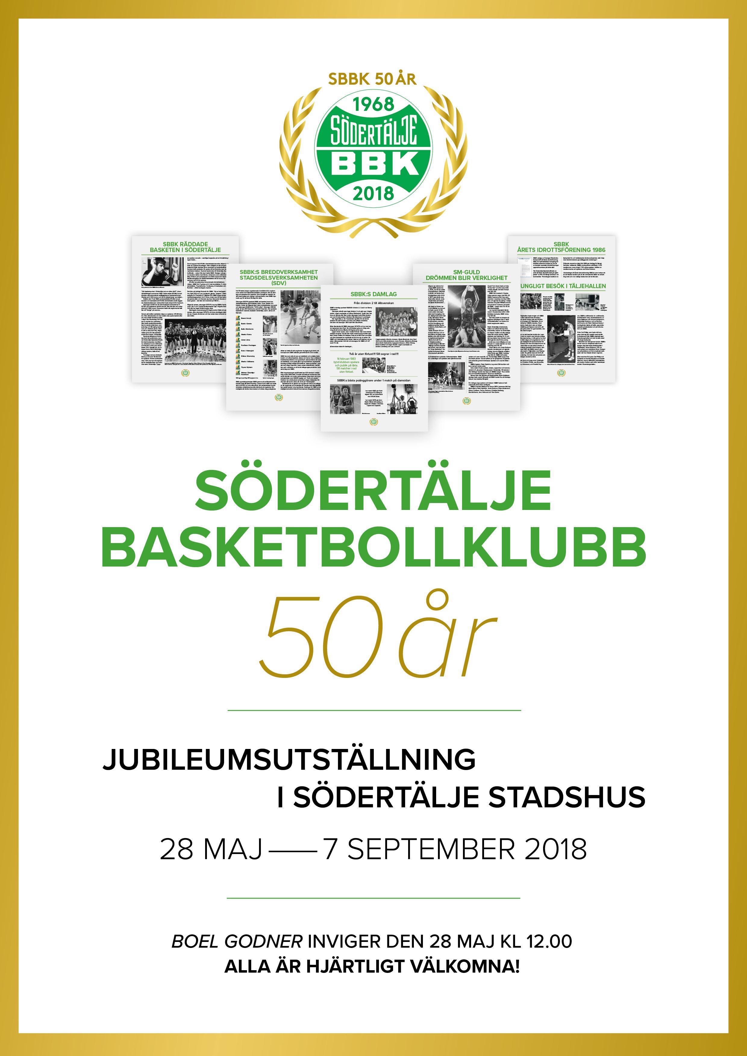Södertälje Basketbollklubb 50 år!