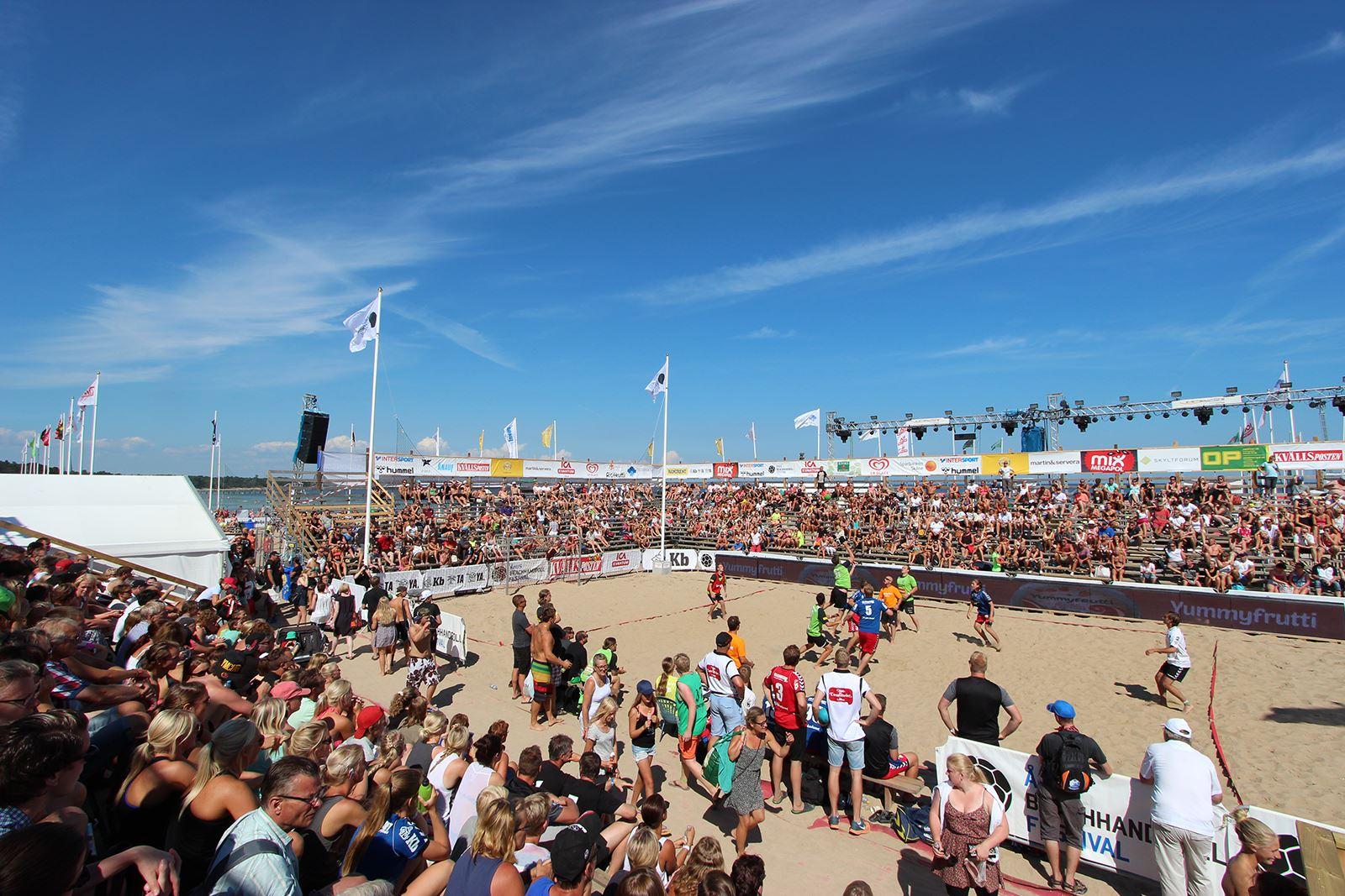 2 dagars entré 13 – 22 juli till Åhus Beachhandboll Festival 2018