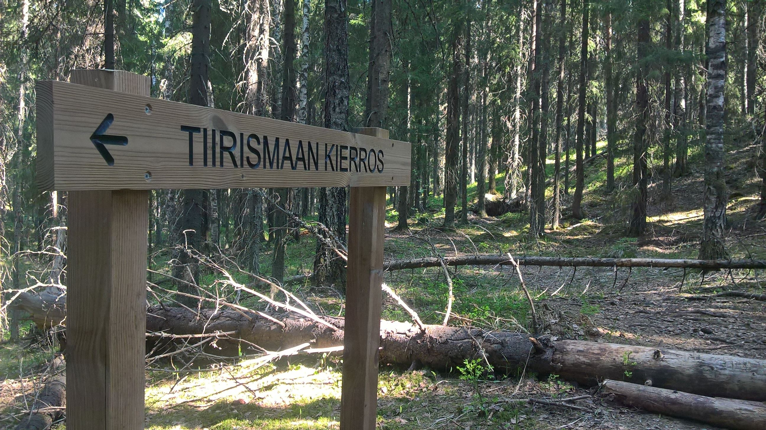 Tiirismaan kierros hiking trail