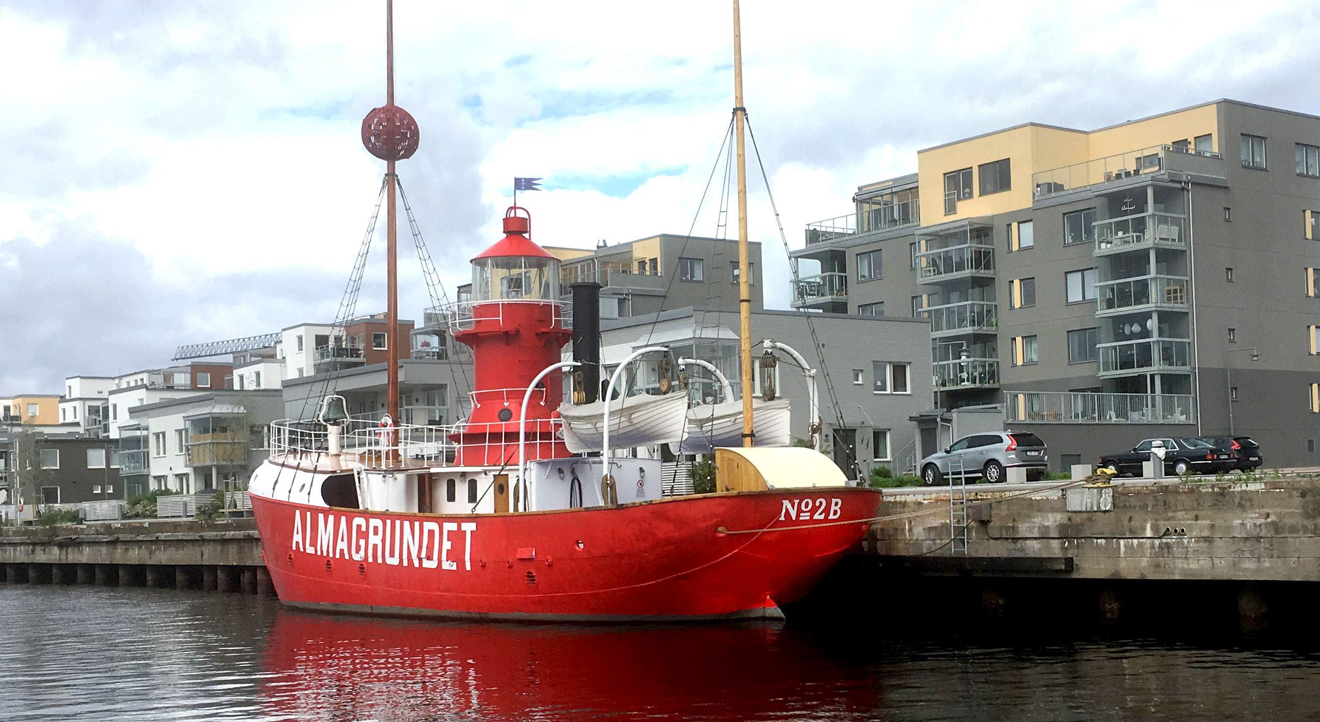 Stadsvandring - Fyrskepp och havsvisor på Almagrundet