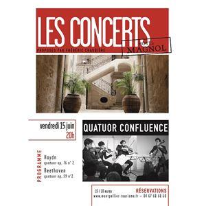 Les Concerts de Magnol - Quatuor Confluence