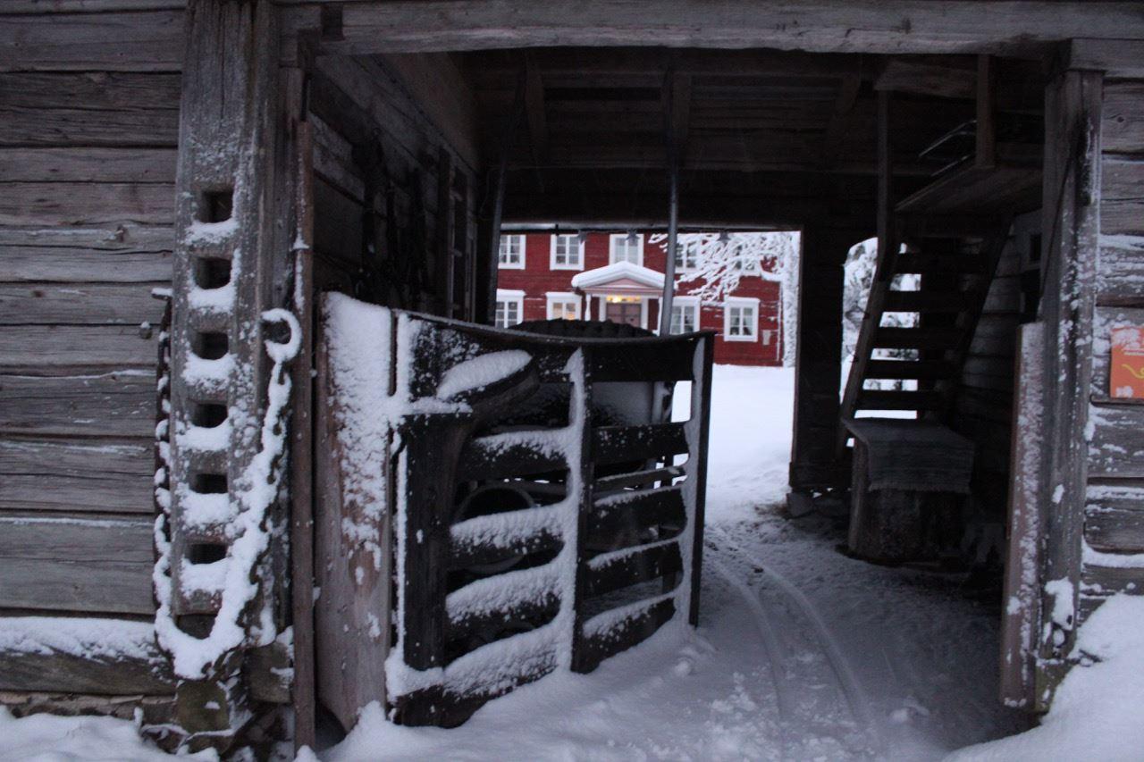 Medeltid på Oklagård, vinter