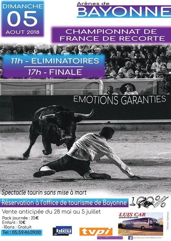 Championnat de France de recorte : vente anticipée pack journée