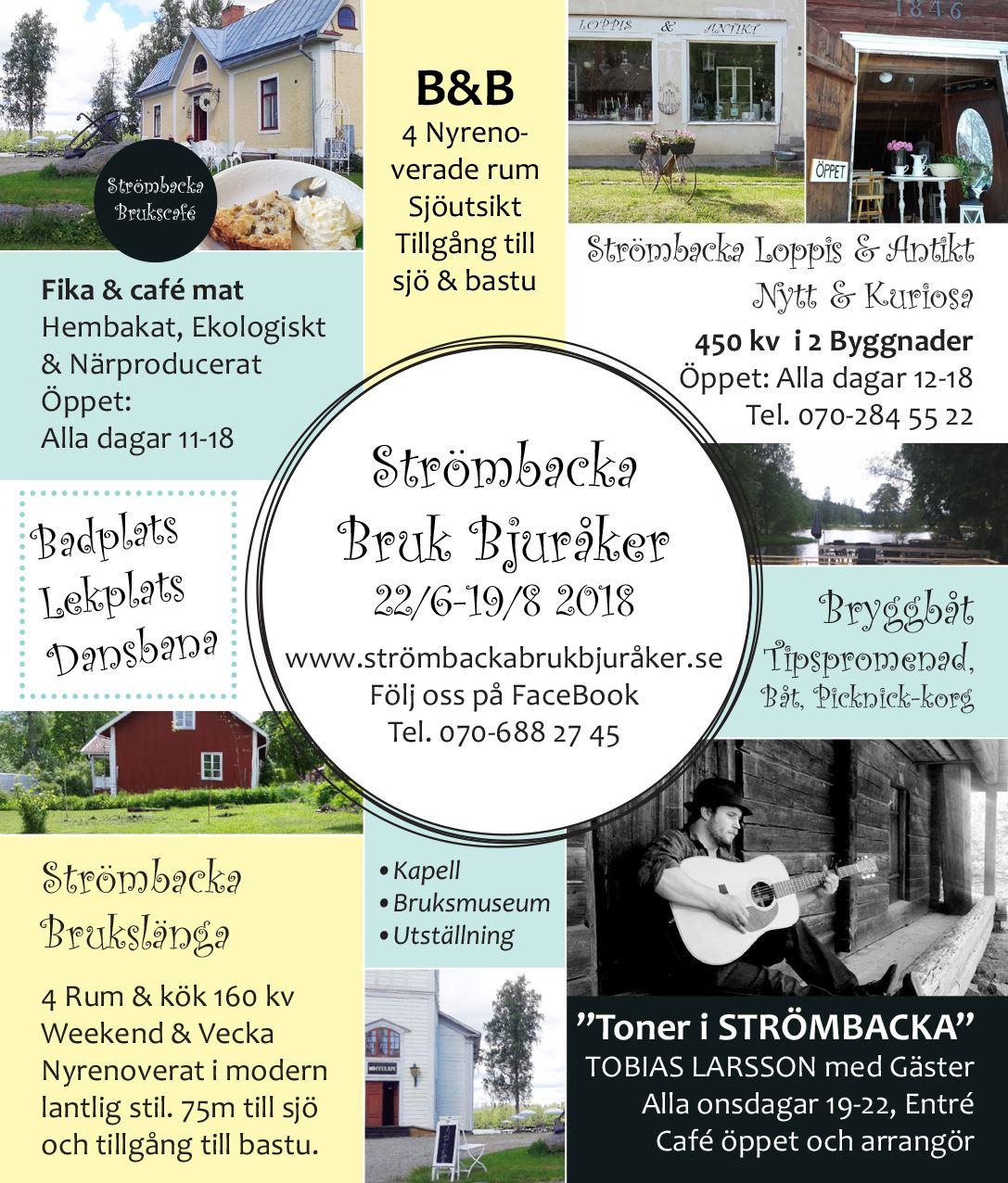 Strömbacka Bruk Bjuråker,  © Strömbacka Bruk Bjuråker, Aktiviteter på Strömbacka 2018