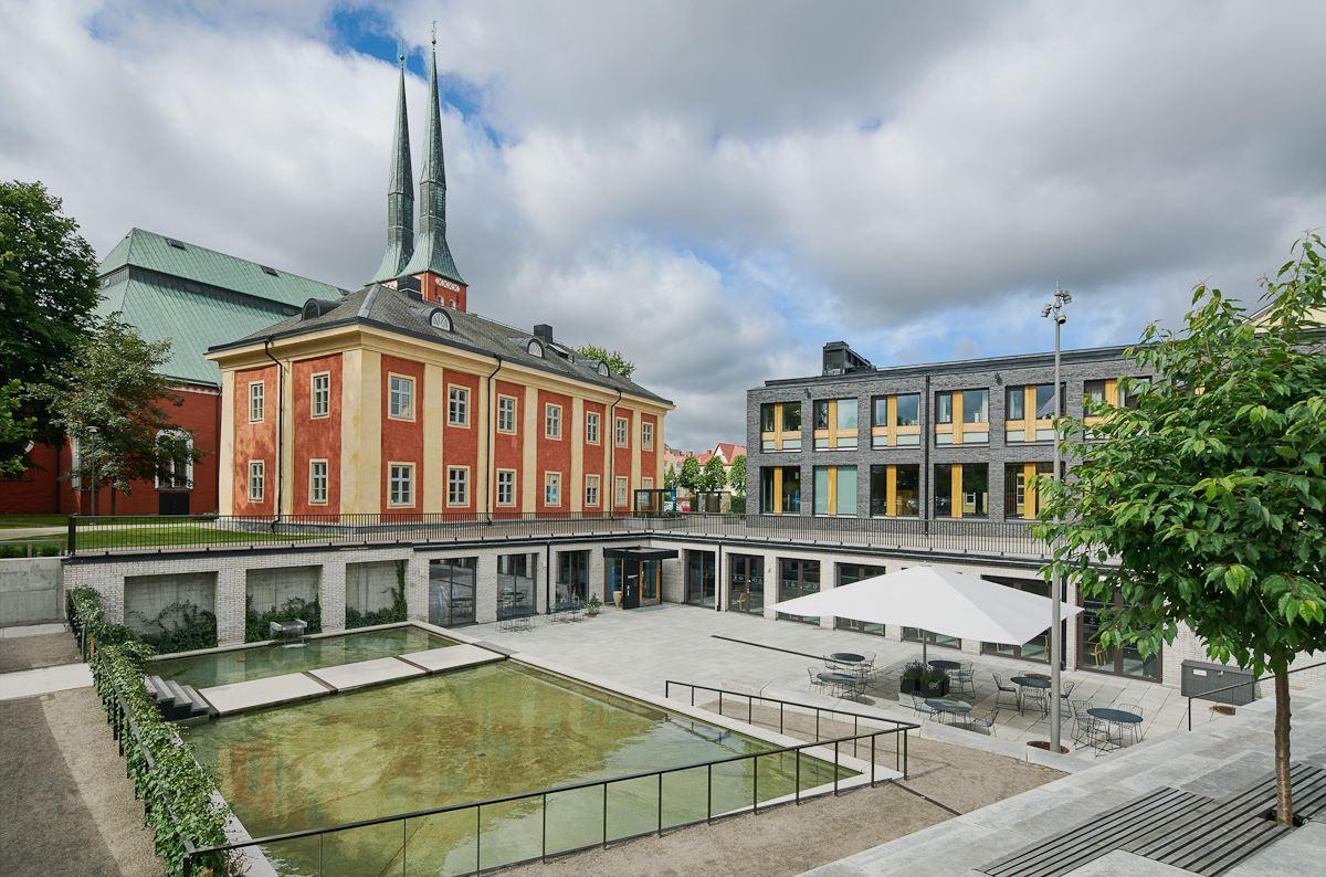 Das Pfarrzentrum des Doms in Växjö
