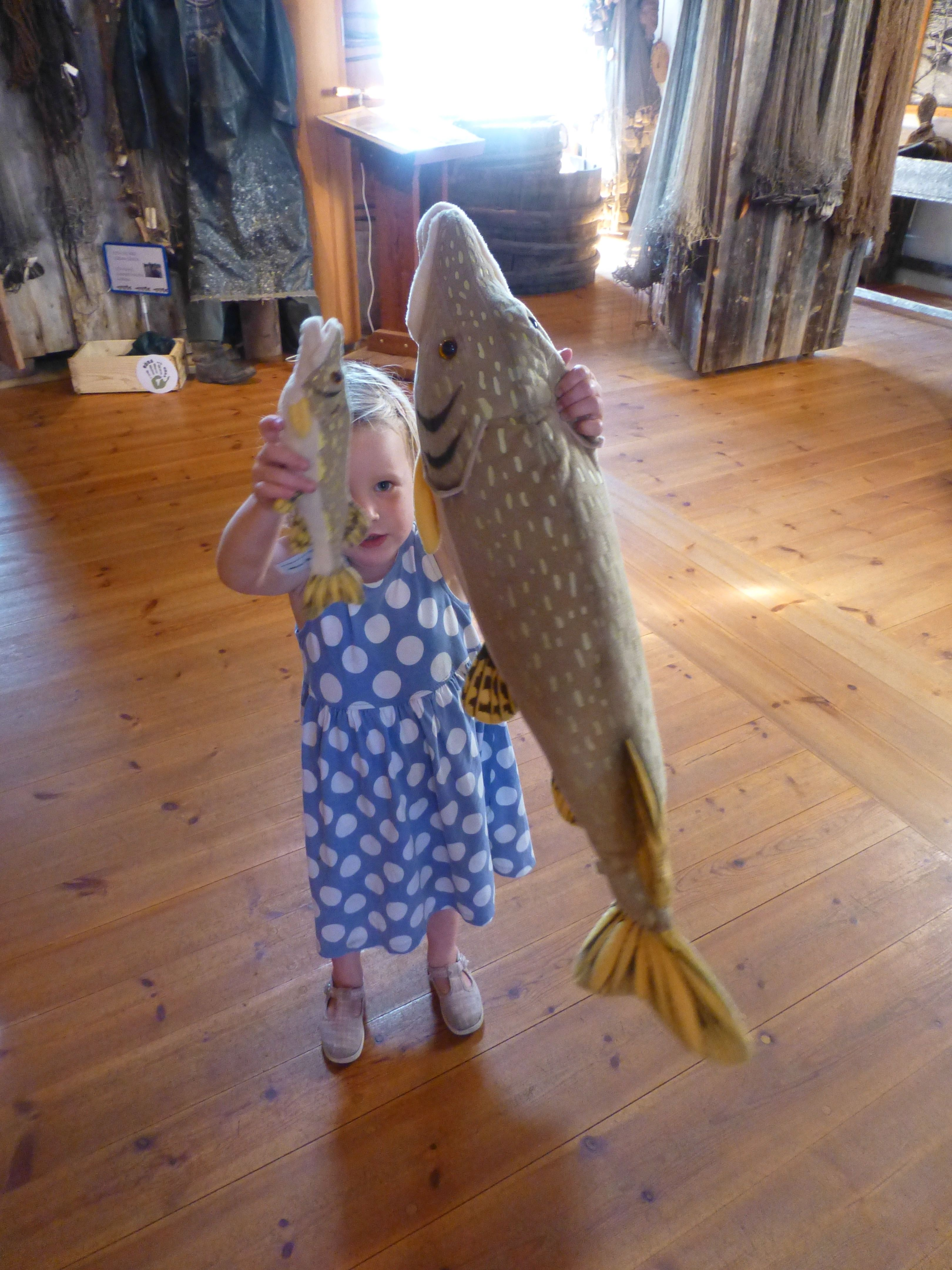 Children's fishing day at Åland Fishing & Hunting Museum