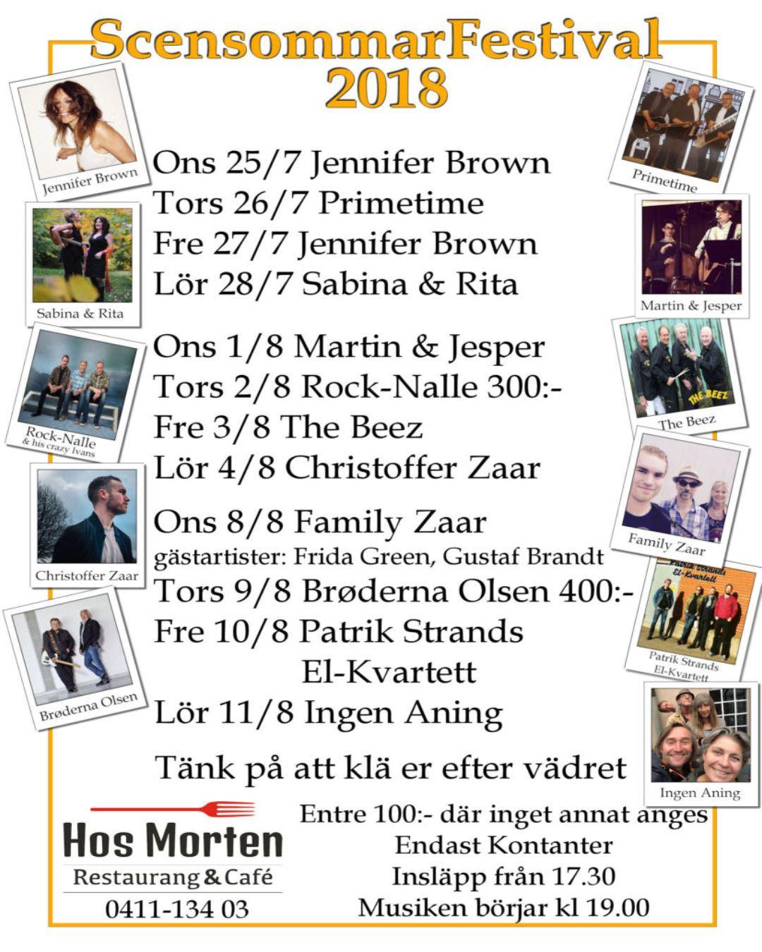 Scensommarfestival Hos Morten Café