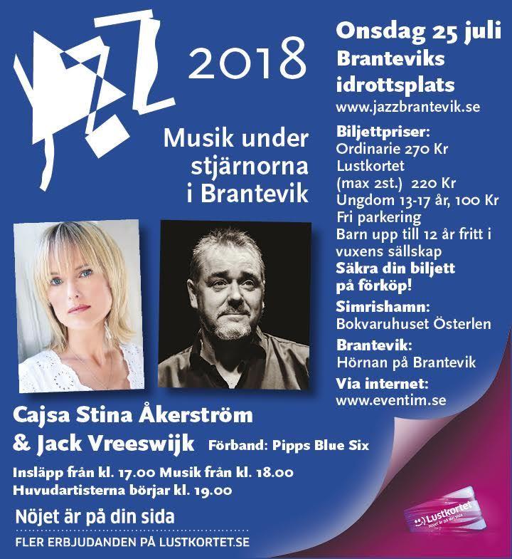 Jazz / Musik under stjärnorna Brantevik: Cajsastina Åkerström och Jack Vreeswijk