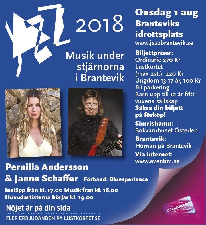 Jazz / Musik under stjärnorna Brantevik:  Pernilla Andersson och Janne Schaffer
