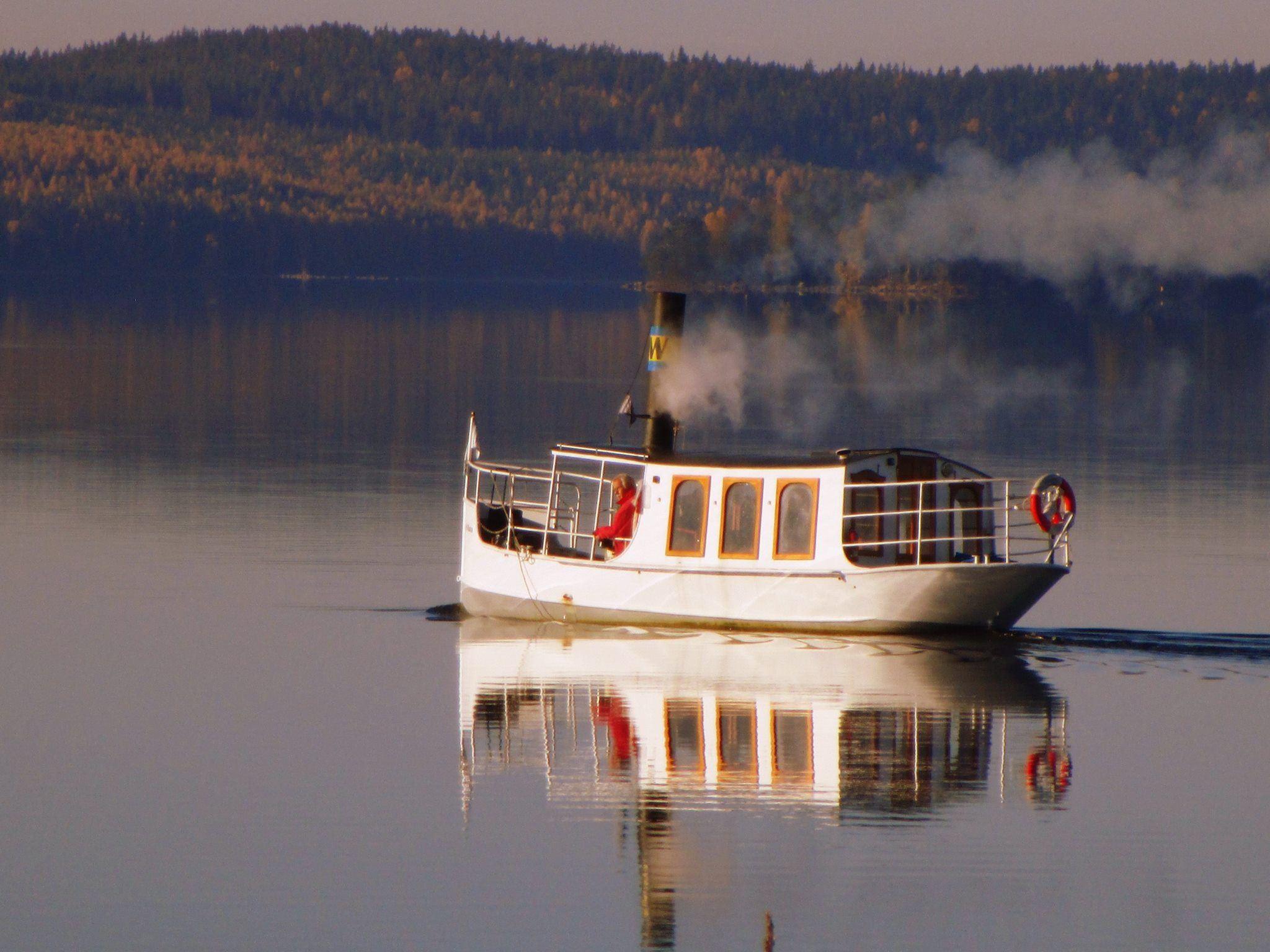 Ångbåtstur på sjön Väsman