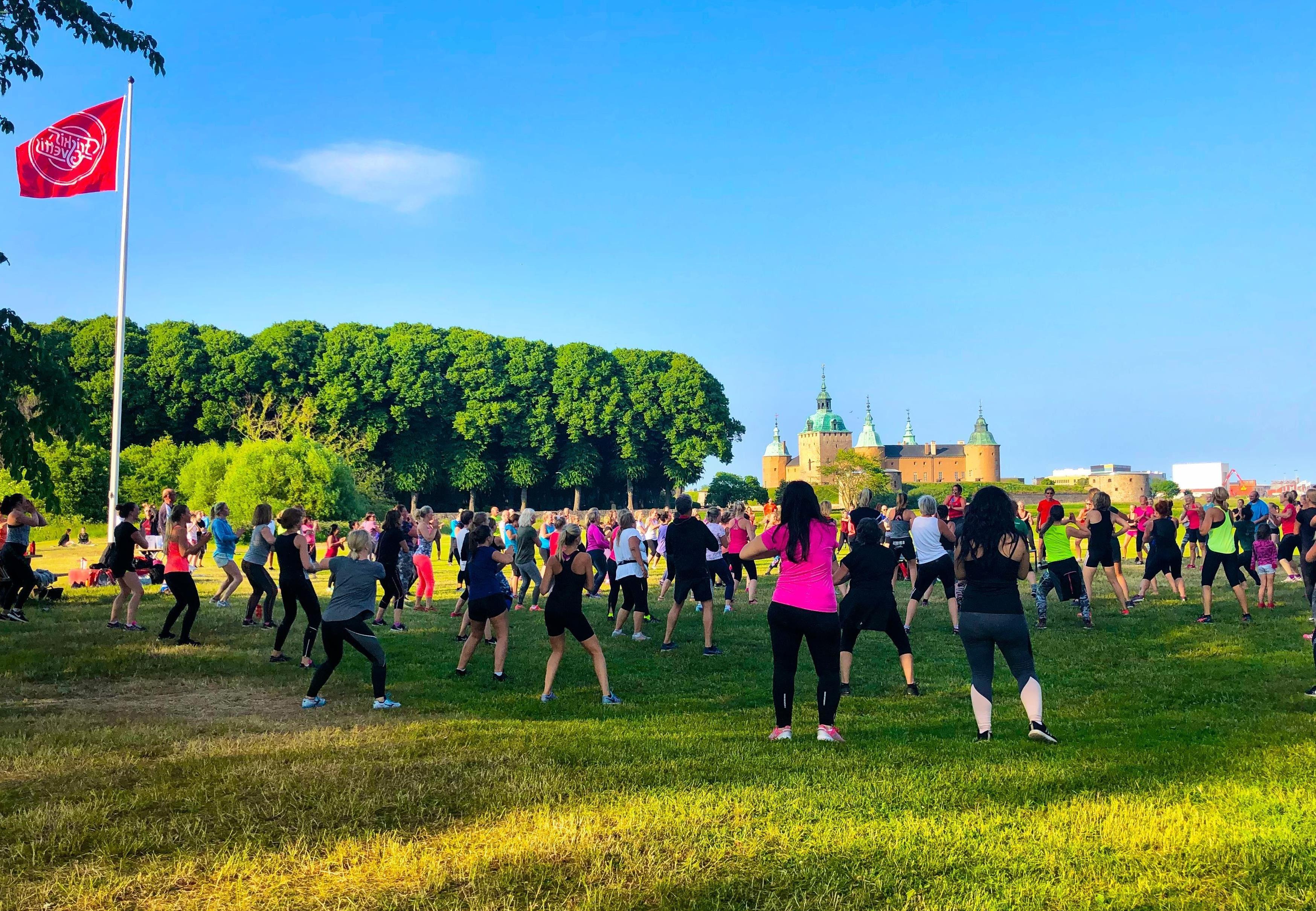 Sommarträning i Kalmarsundsparken