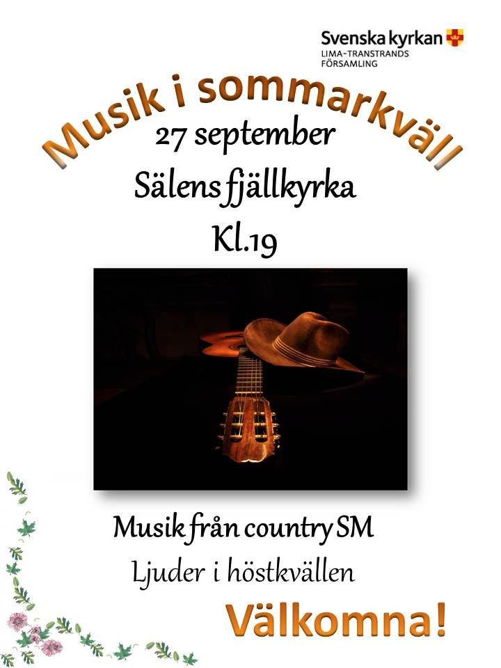 Musikkväll i Sälens fjällkyrka kl 19:00