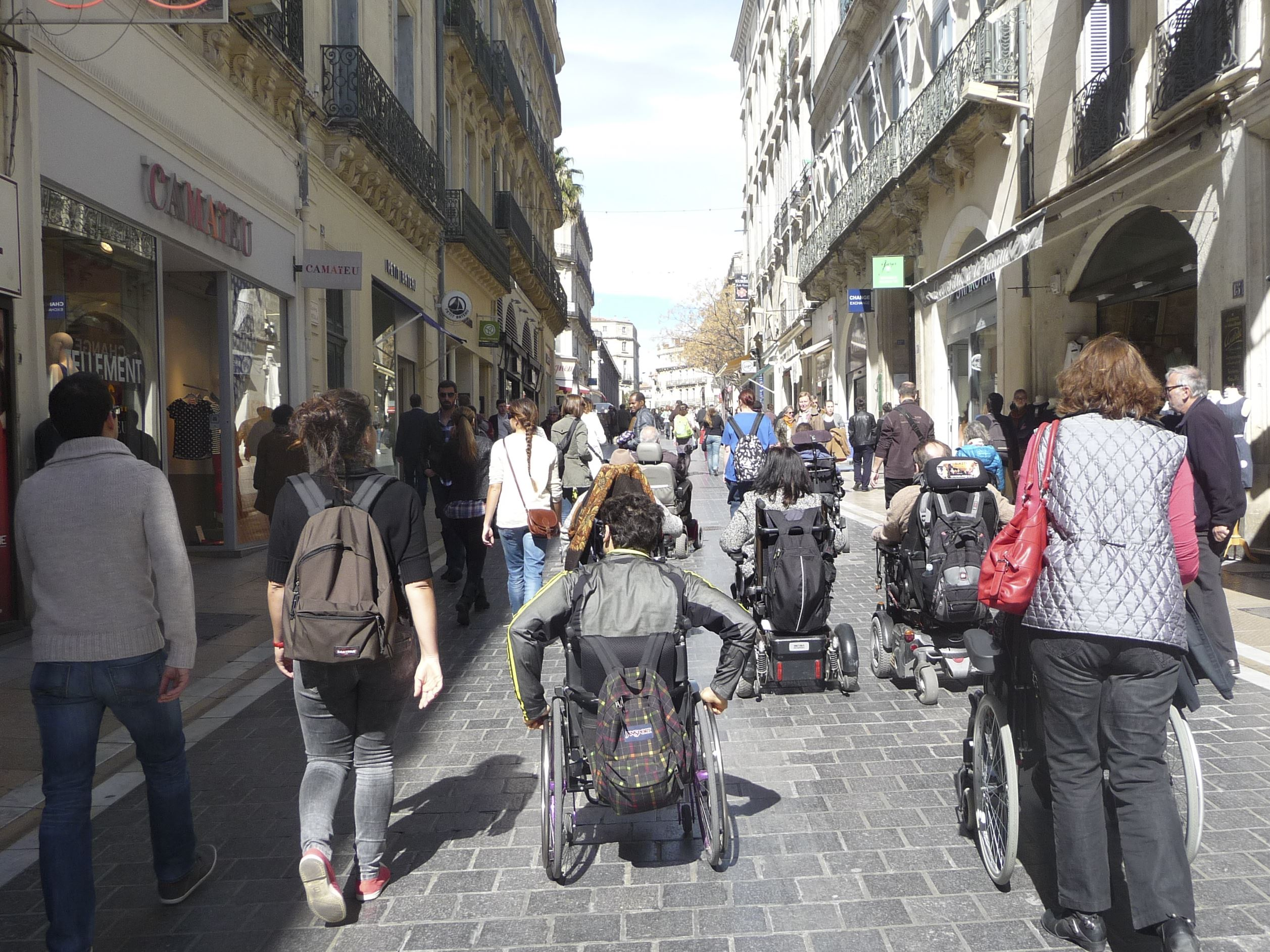 French guided tour for motor disabled people