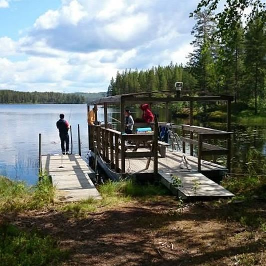 Läger i Lögdö Vildmark med Nacksta Fritidsgård.