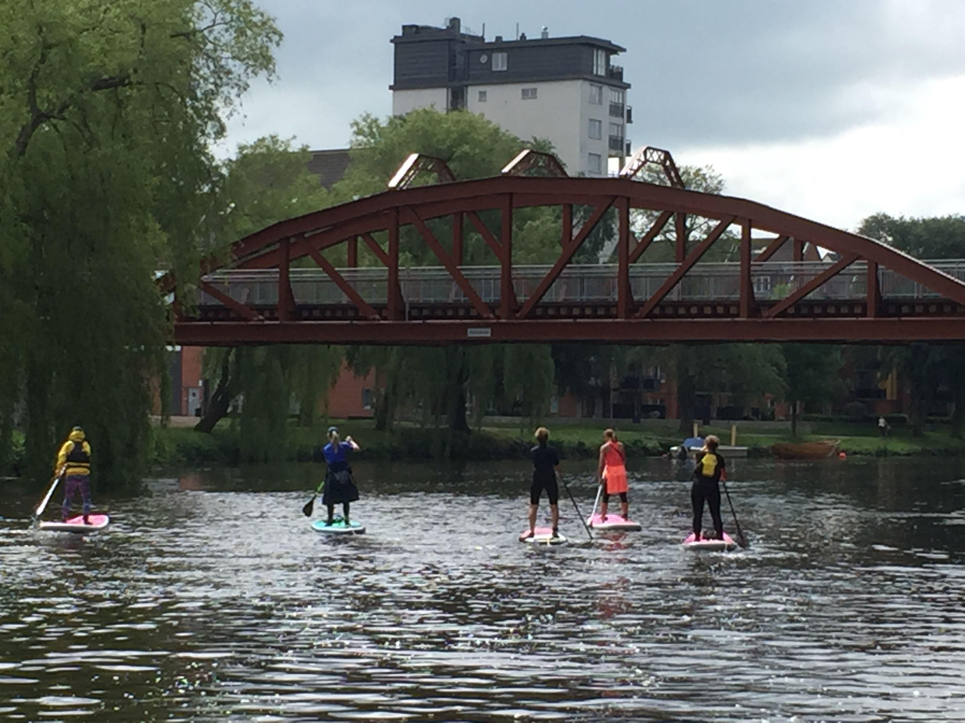 © Katrin Malwitz, SUP- paddling för endast killar