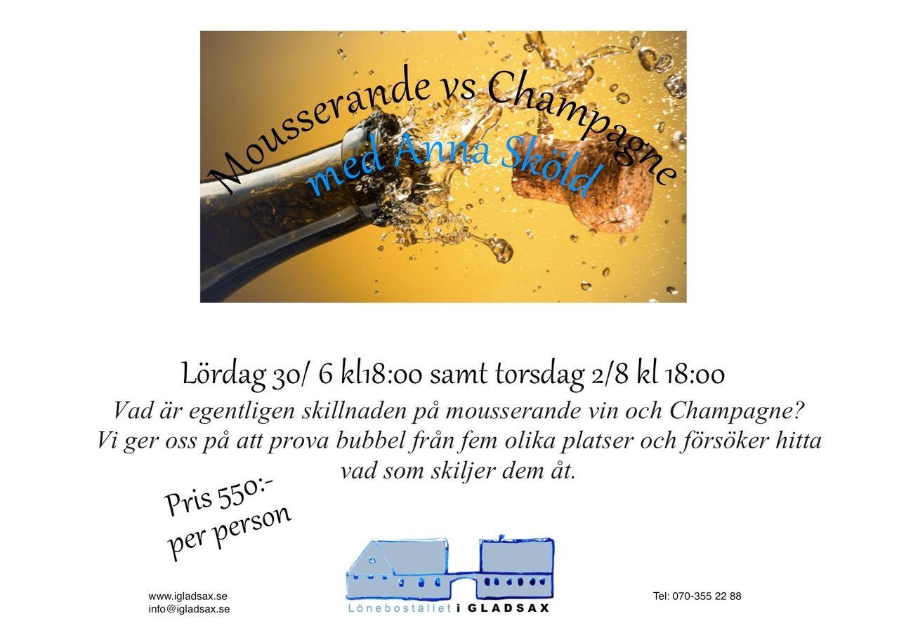 Mousserander vin- och Champagne