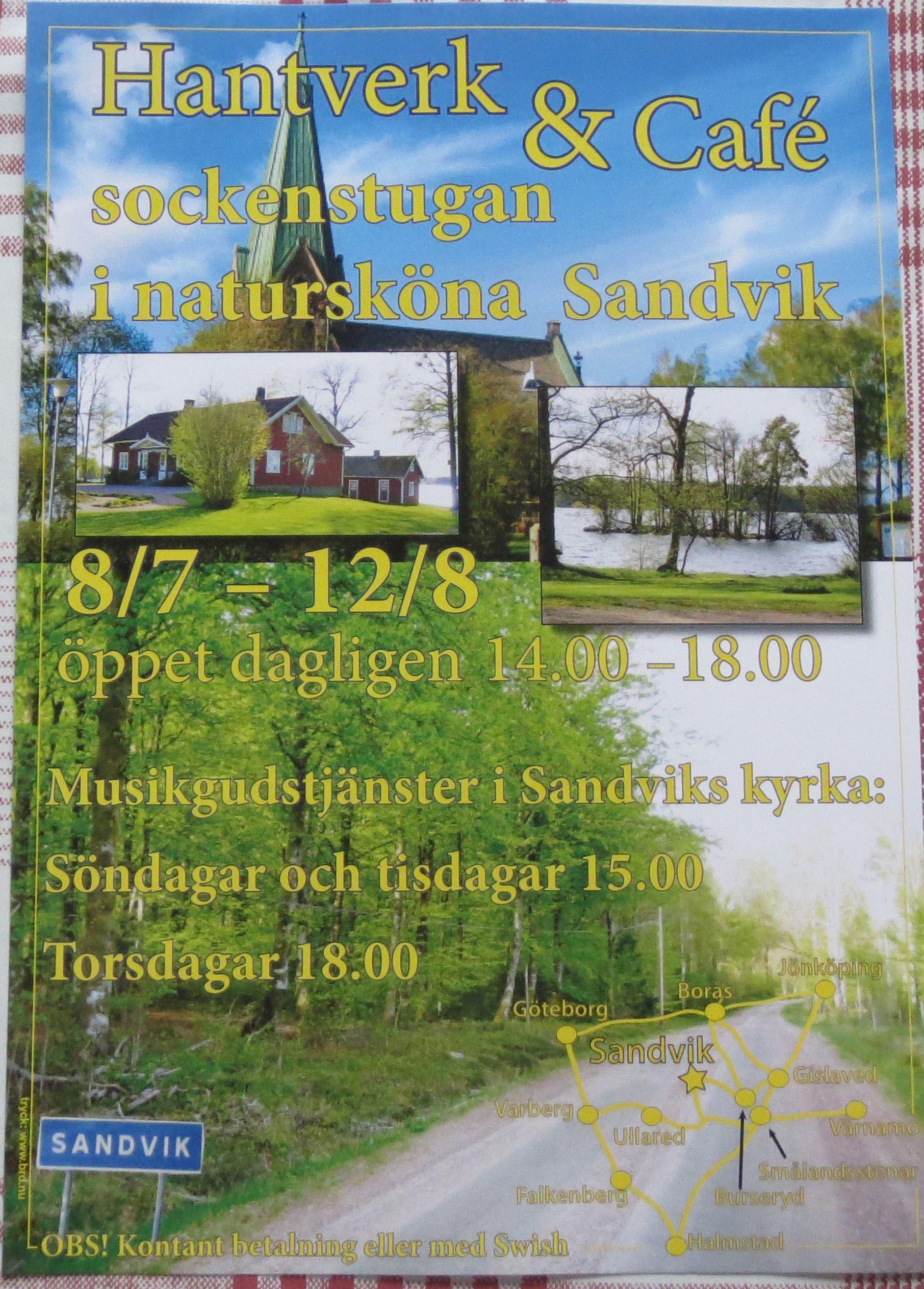 Hantverk & Café i Sandvik