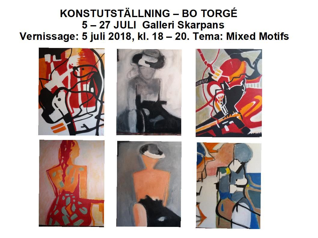 Art exhibition: Bo Torgé shows Mixed Motifs in the Skarpans Gallery