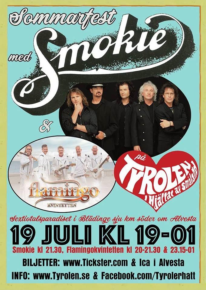 Sommarfest med Smokie & Flamingokvintetten på Tyrolen