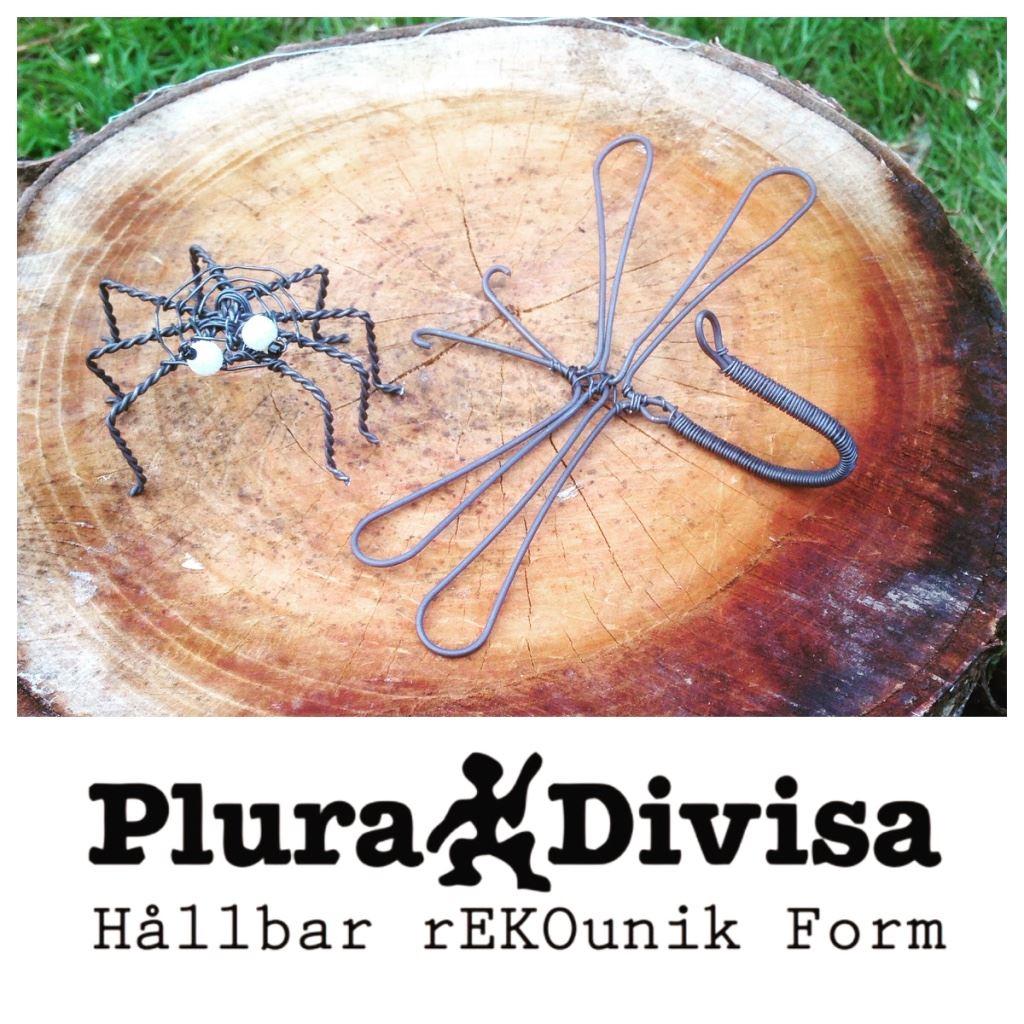 © Plura Divisa hemsida, Kreativa Fingrar - Insekter av järntråd