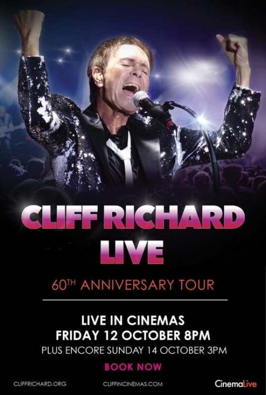 Cliff Richard  60 års jubileumskonsert  direkt från England på bio