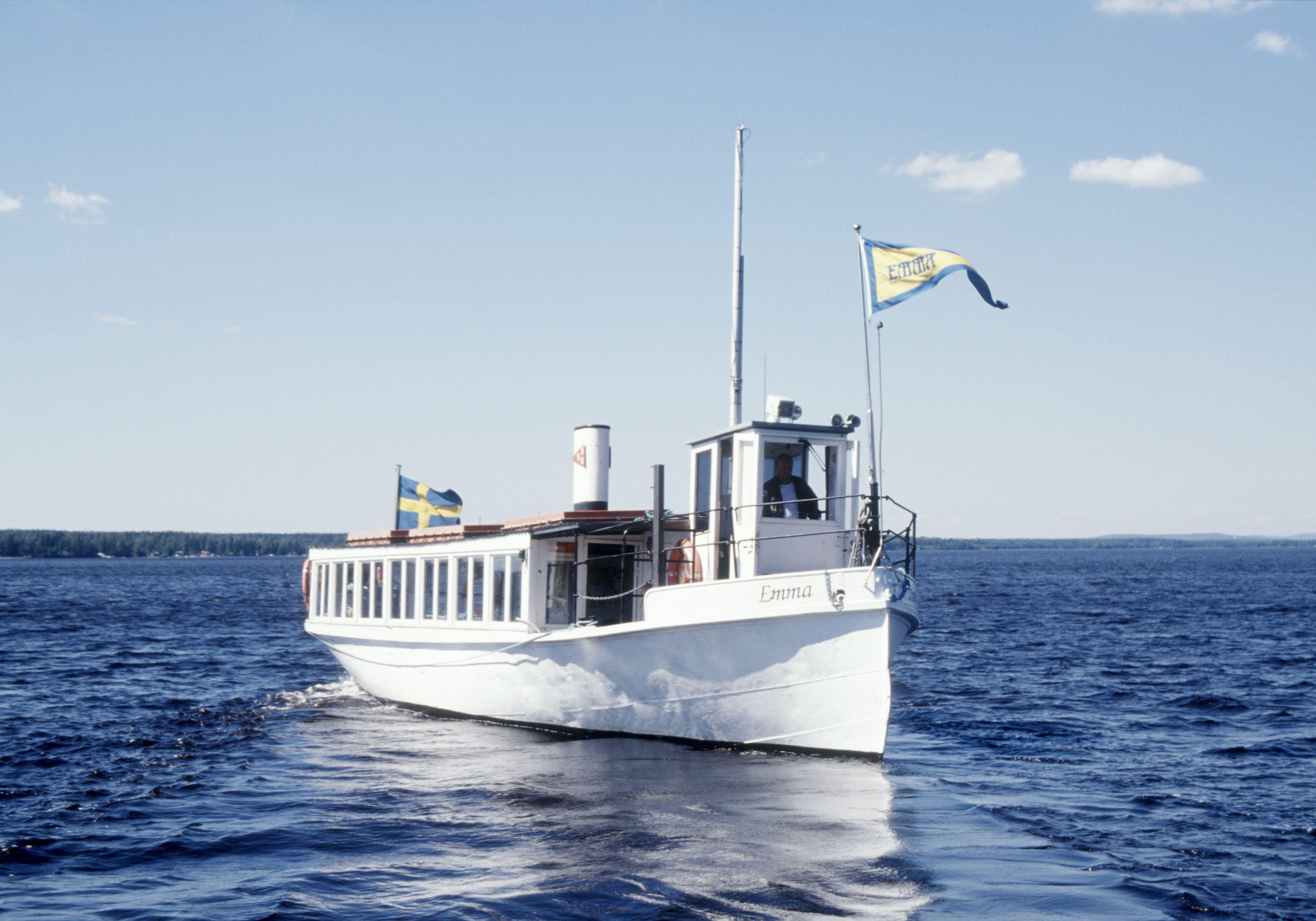 Båttur med M/S Emma till Slar-Ollas fäbodar