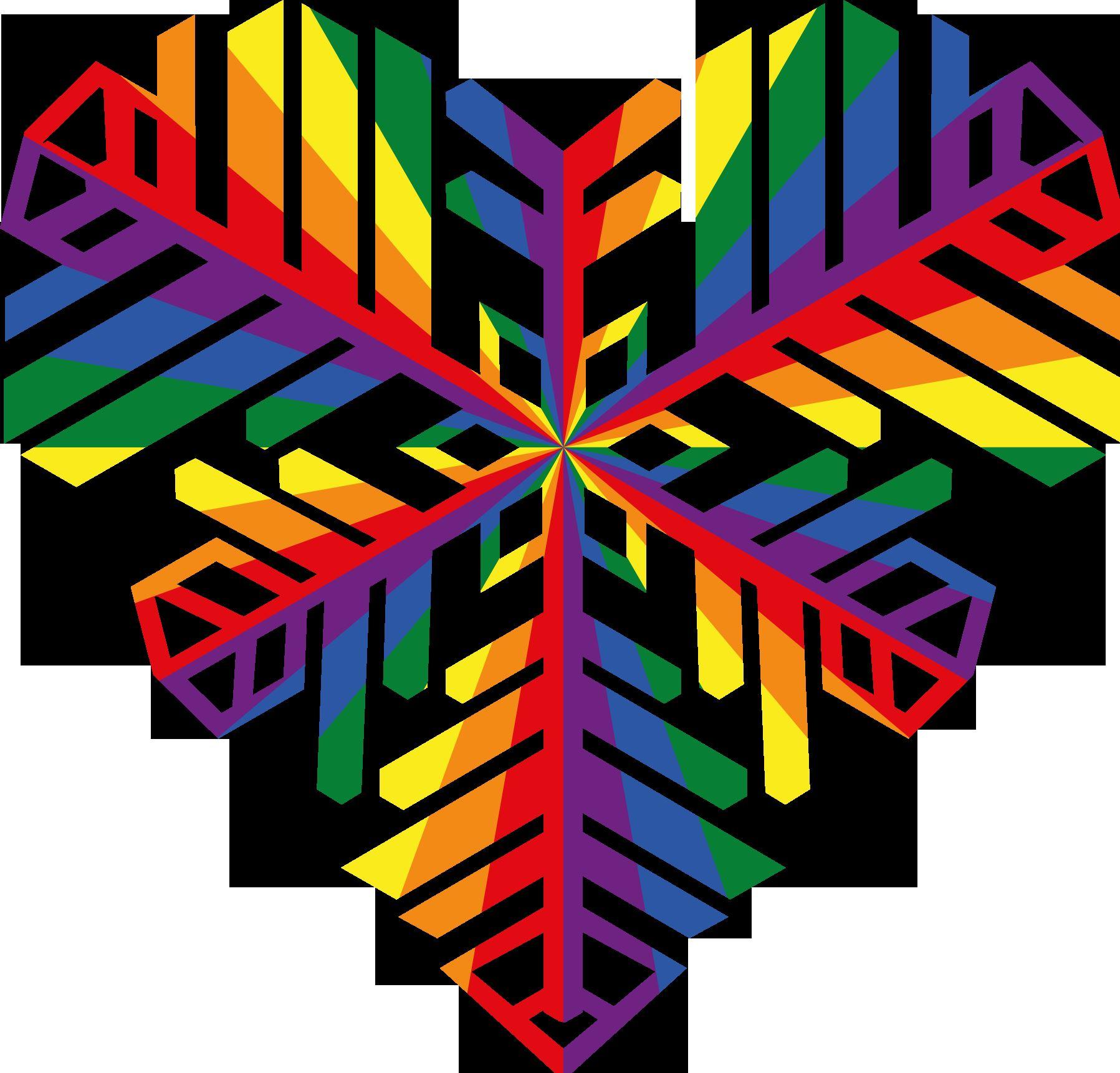 © RFSL Östersund., Östersunds snöhjärta i regnbågsfärger