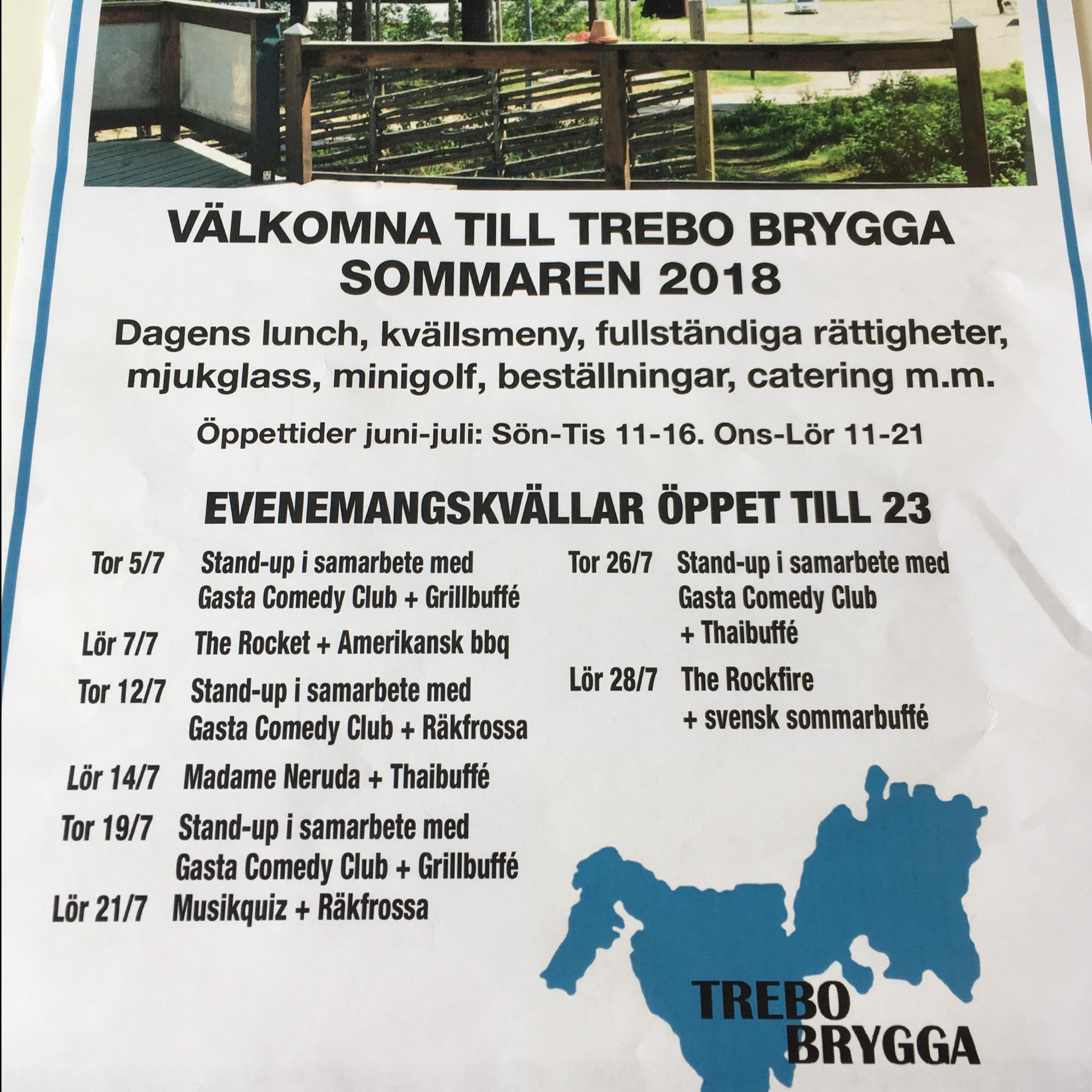 Stand-up på Trebo brygga med Thaibuffé