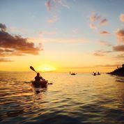 Im Rhythmus der Lagune / Kajakfahrt zu zweit bei Sonnenuntergang