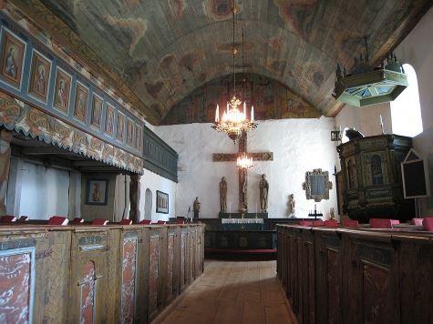 Die alte Kirche von Sjösås