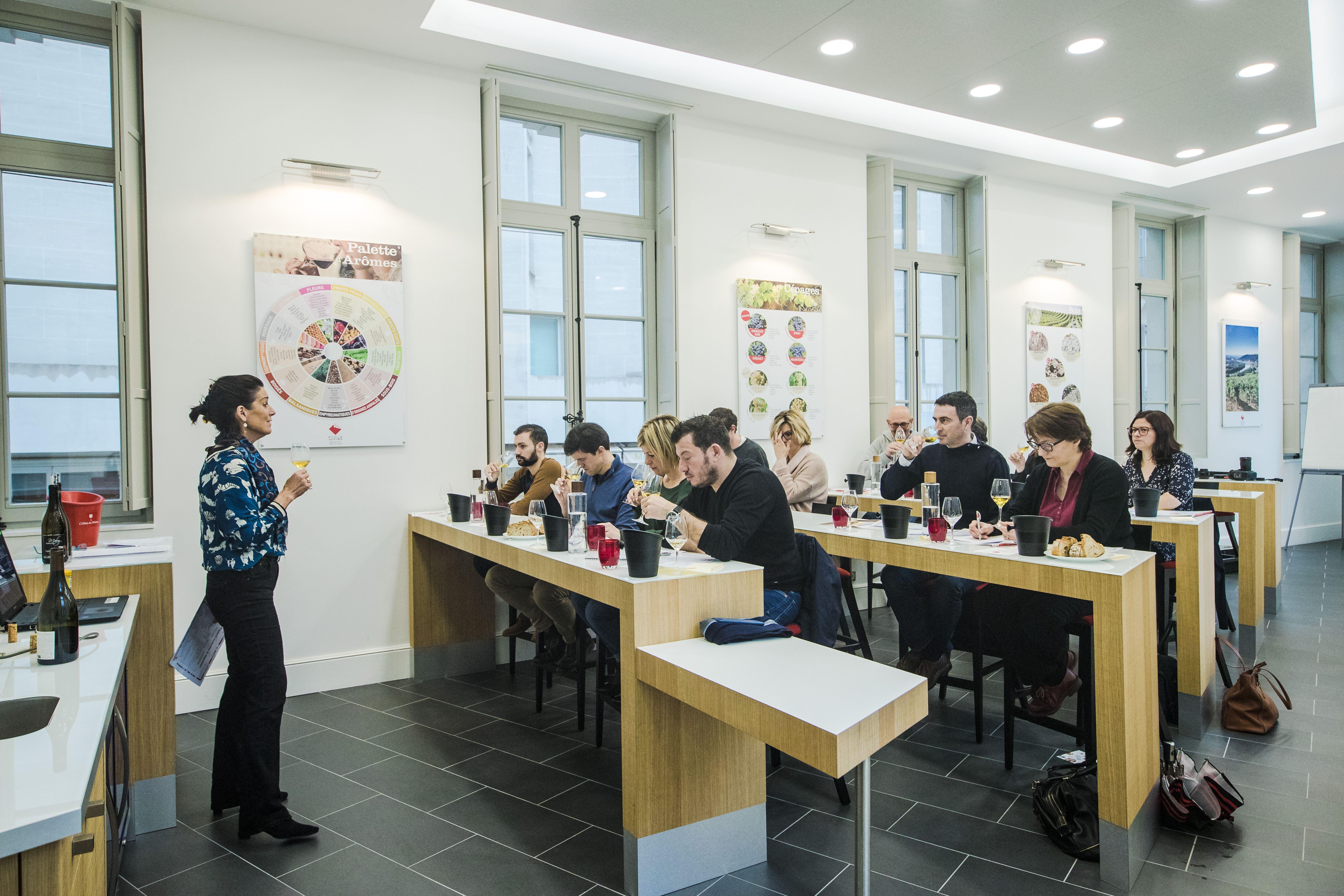 Ecole des vins - Atelier dégustation des cépages de la vallée du Rhône méridionale