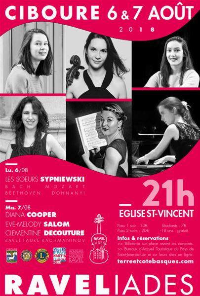 Concert des Ravéliades Lundi 6 août 2018 à 21h