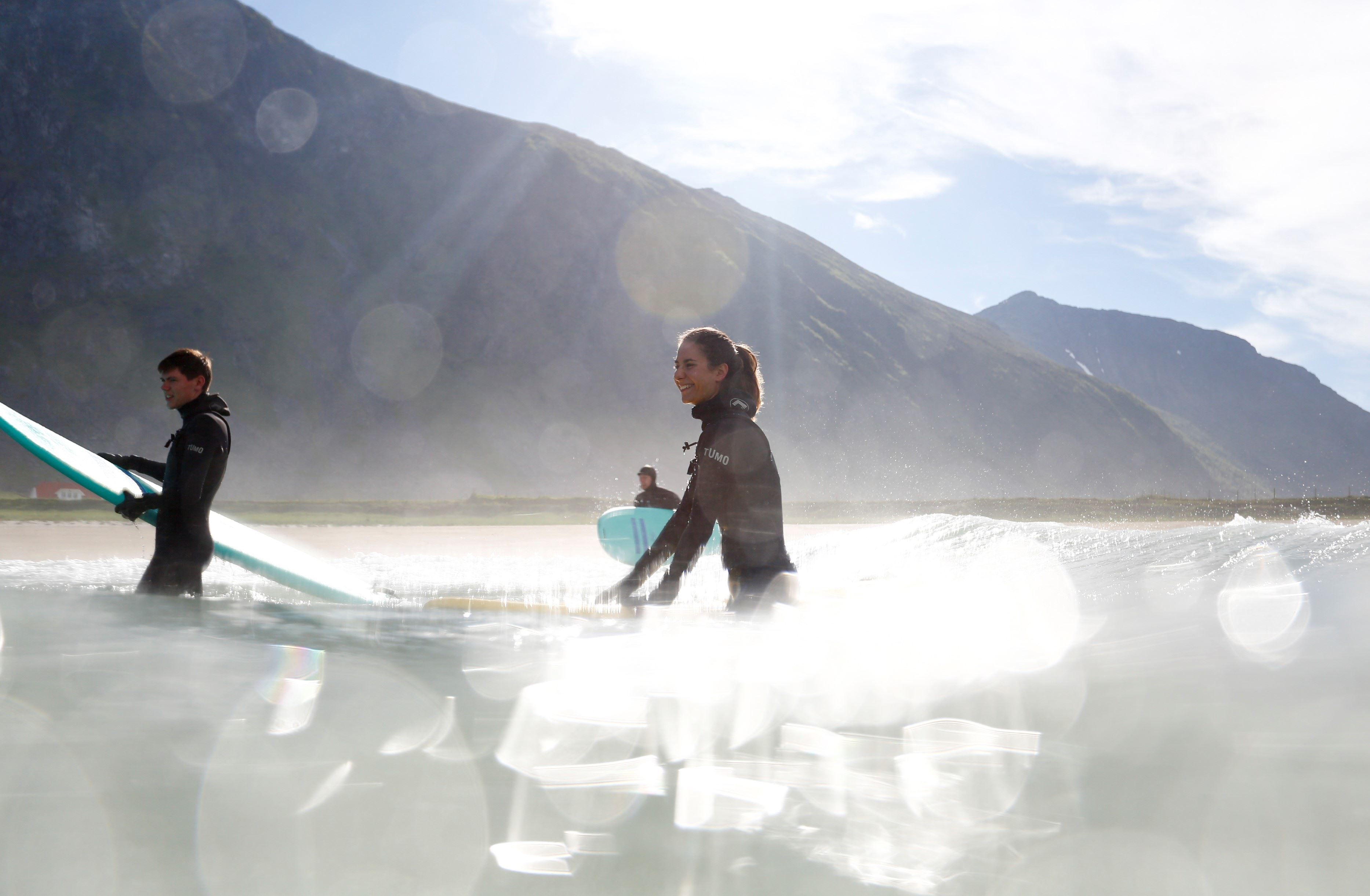 Beginner Surf Lesson with Professional Photographer - Unstad Arctic Surf