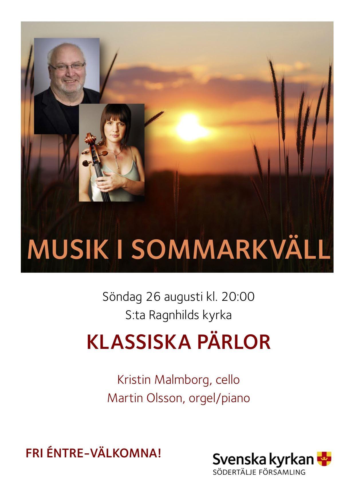 Musik i Sommarkväll i S:t Ragnhilds kyrka
