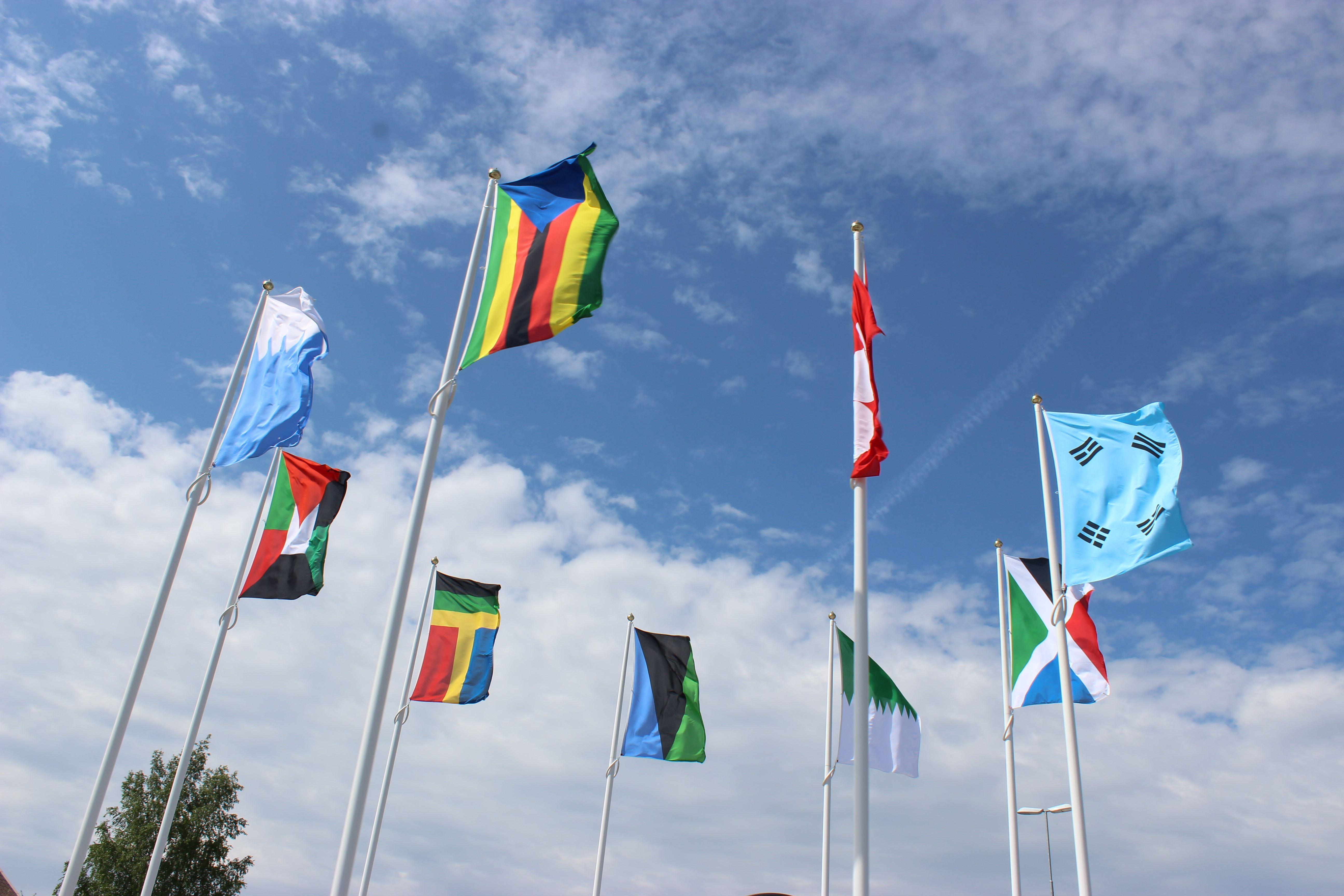 Kreisel: Flaggen