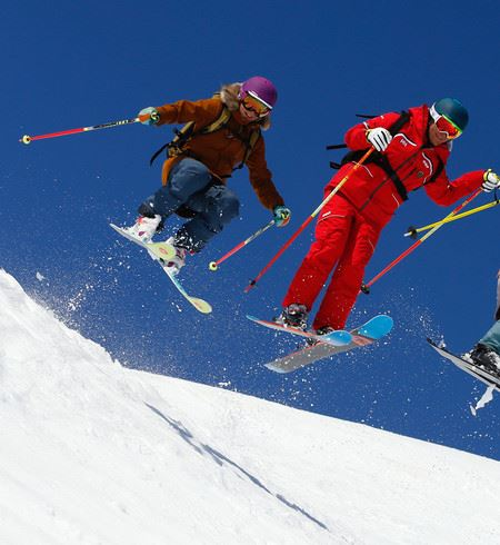 SKI FREERIDE/ FREESTYLE 5 OR 6 DAYS WITH LUNCH - 8 years old and more