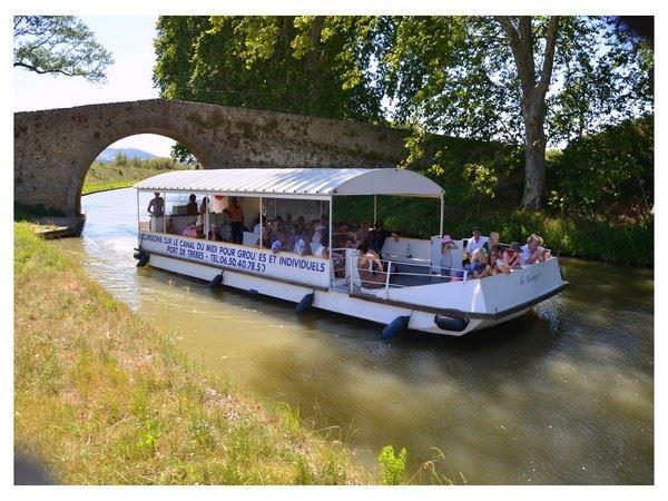 Croisières commentées sur le Canal du Midi - bateau le Cocagne - 1h15 ou 2h - Français, Anglais, Espagnol