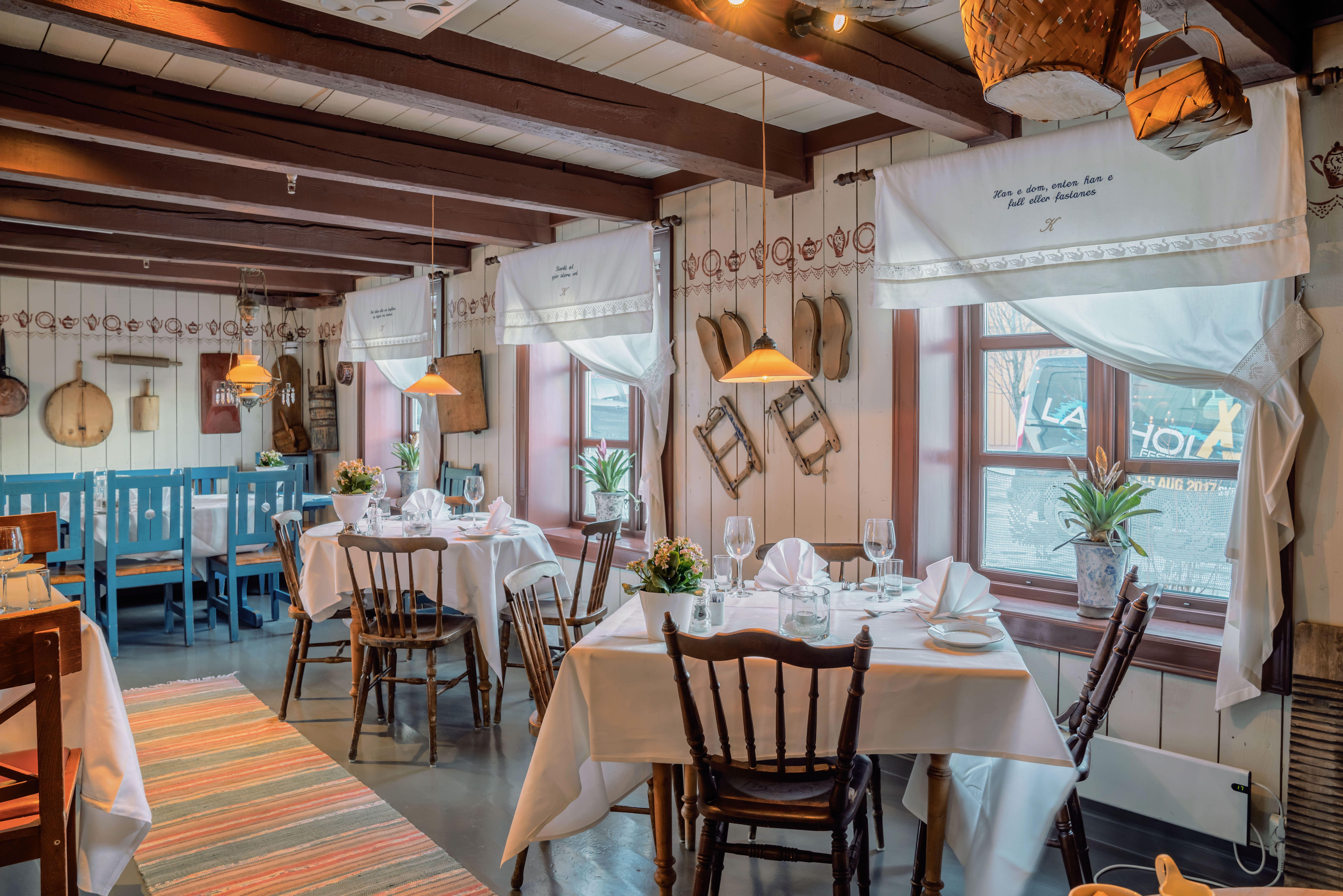 © Anker Brygge / Restaurant Kjøkkenet, Borddekking Restaurant Kjøkkenet