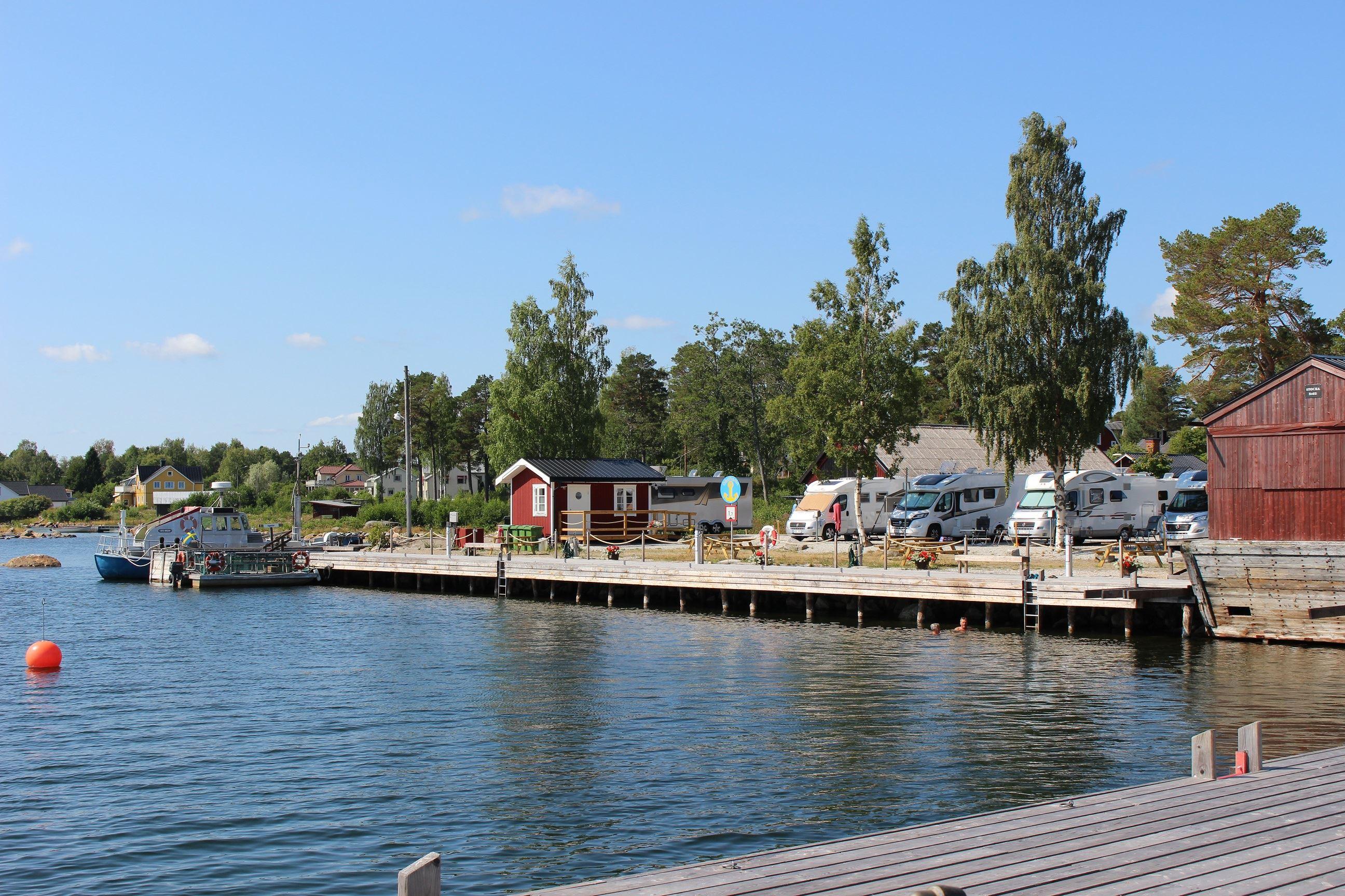 Husbil ställplats Stocka hamn