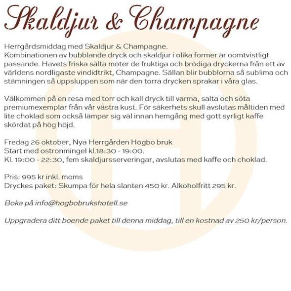 Skaldjur & Champagne