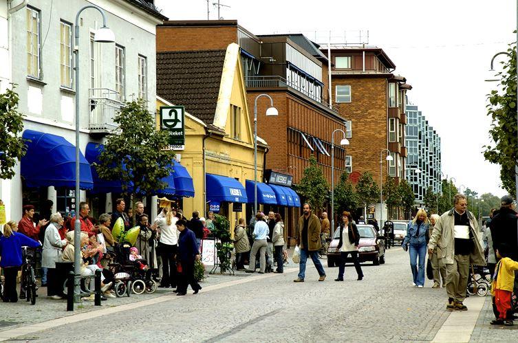 Bertil Hagberg, Gatubild Klippans Centrum