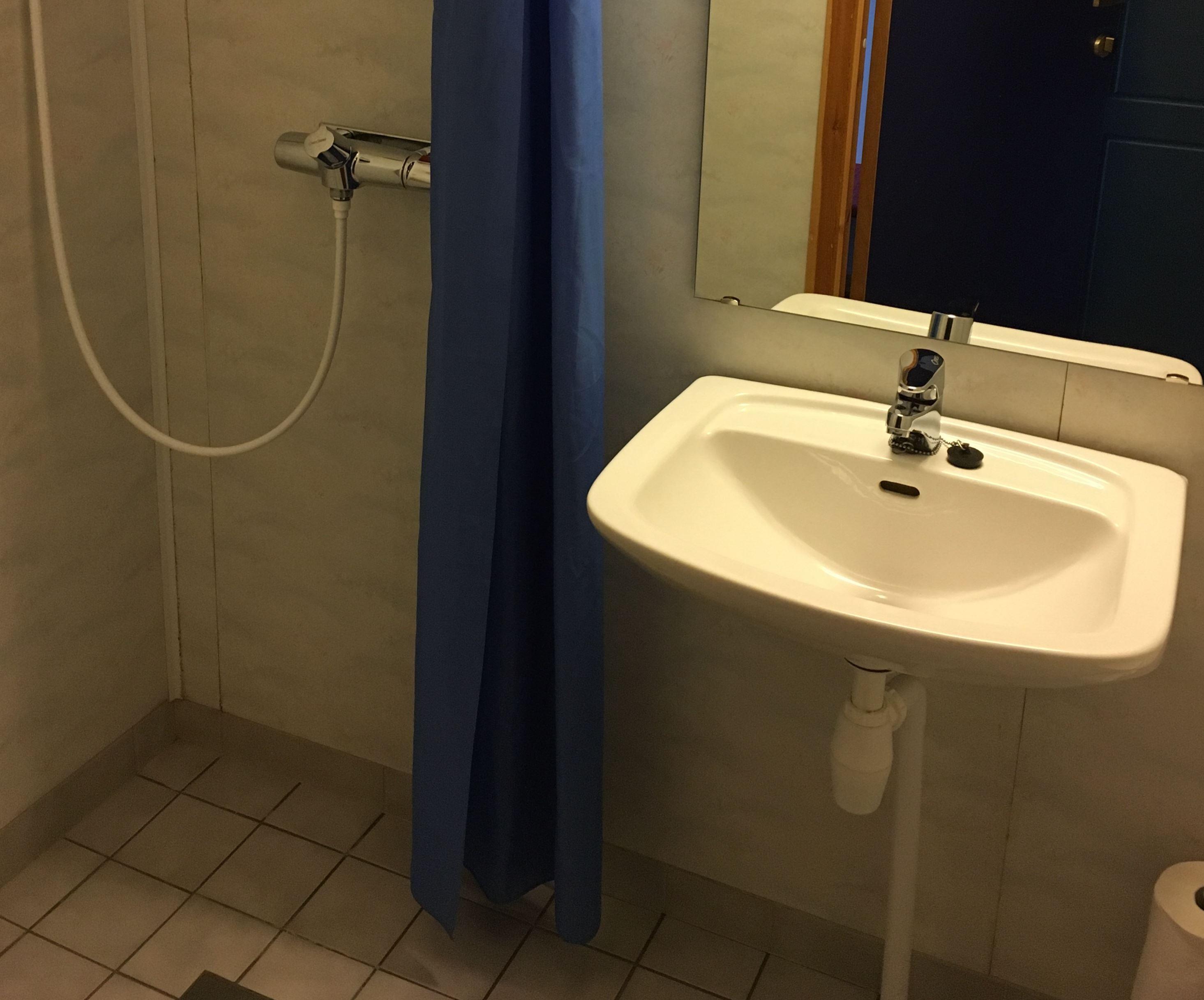 Dobbeltrom med privat dusj og toalett