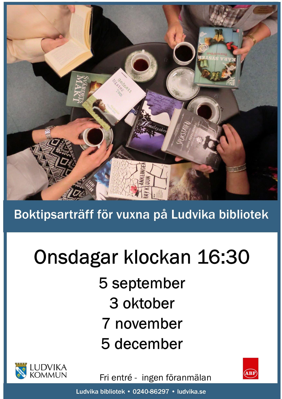 Boktipsarträff för vuxna på Ludvika bibliotek