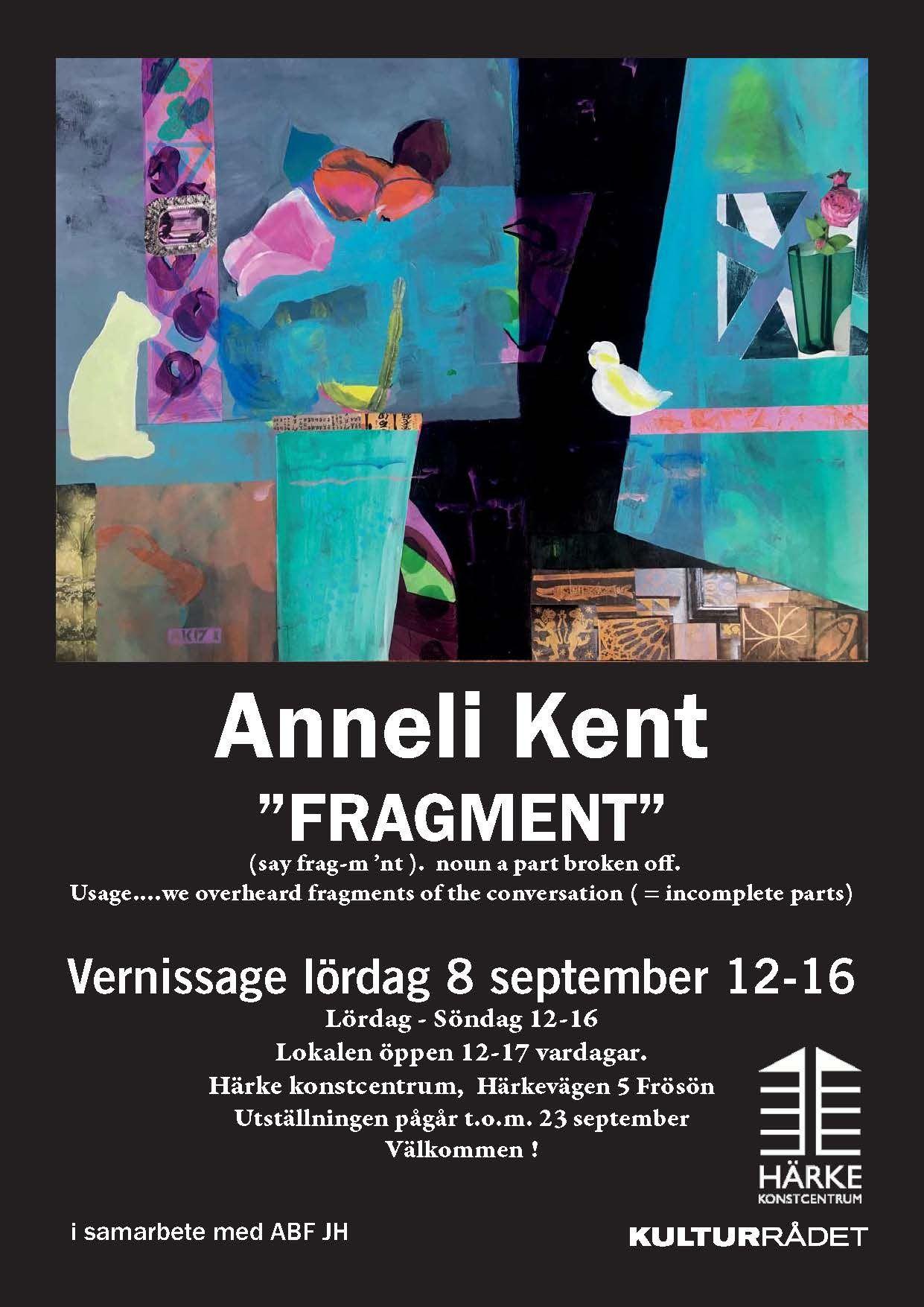 © Härke Konstcentrum, Exhibition Anneli Kent